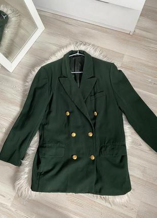 Пиджак двубортный шерстяной