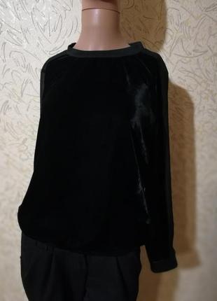 Велюровый свитшот с шифоновой спиной
