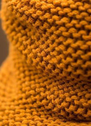 Качество. красота.  шарф хомут горчичного цвета. 100 % шерсть. турция