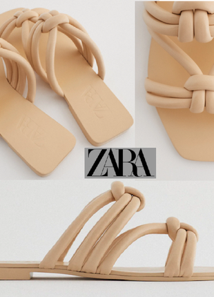 Zara  босоножки сандали шлепанцы натуральная кожа р.39 и р.40