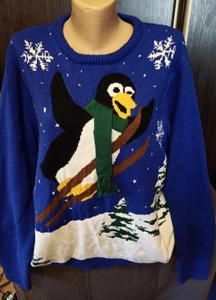 Шикарный новогодний свитерок.