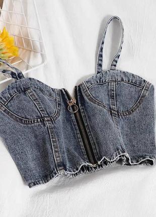 Женский джинсовый топ-бюстье