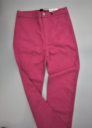 Xs-s р малиновые штаны джинсы jennyfer
