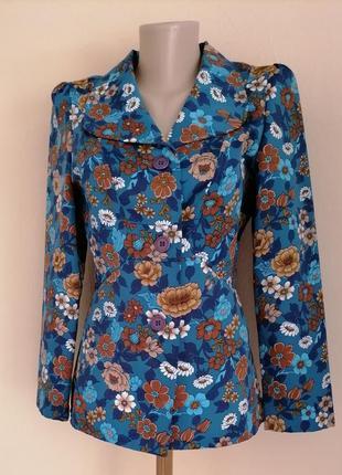 Шикарный пиджак жакет в цветочный принт от c&a