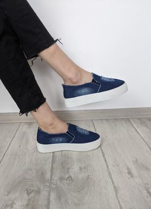 🔥🔥🔥 слипоны джинсовые 38