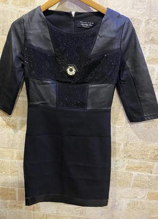 Комбинированное платье philipp plein