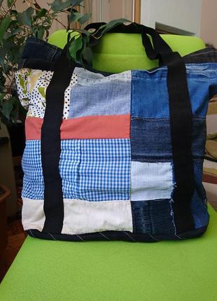 Огромная пляжная сумка_шоппер