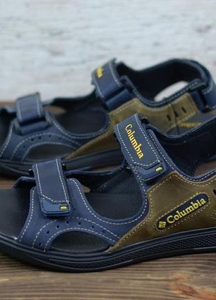 Мужские кожаные сандалии columbia натуральная кожа