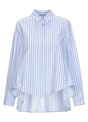 Imperial рубашка-туника ткань ламе италия размер s бело-голубая полоска свободного силуэта