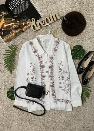 Актуальная винтажная блузка в принт №302max