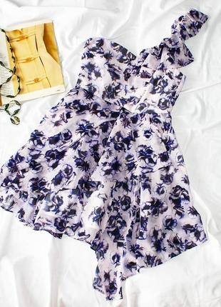 Sale платье на одно плечо в цветочный принт / сукня плаття