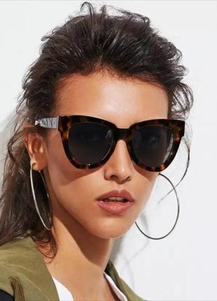 Большие очки солнцезащитные ретро роговые анималистические окуляри сонцезахисні леопард