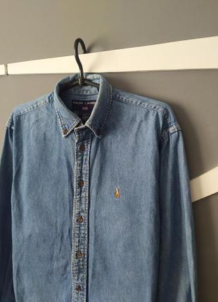 Женская джинсовая рубашка ralph lauren