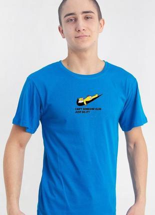 Футболка летняя голубая унисекс гомер симпсон nike2 фото