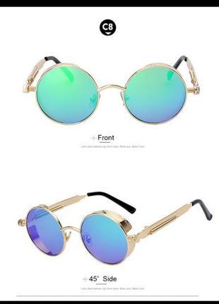 Солнцезащитные очки blue and gold vintage