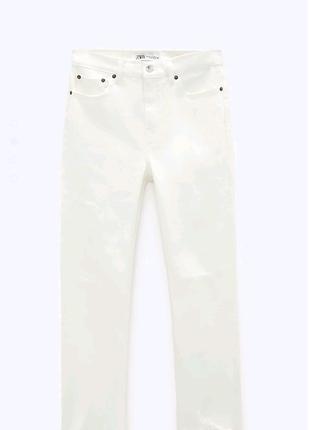 Белые джинсы zara 36