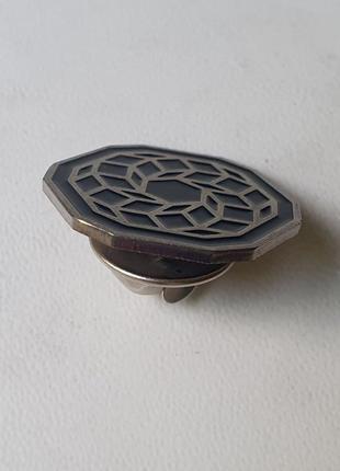 🎁 стильный пин-булавка-брошка с узором  (в подарок) 🎁2 фото