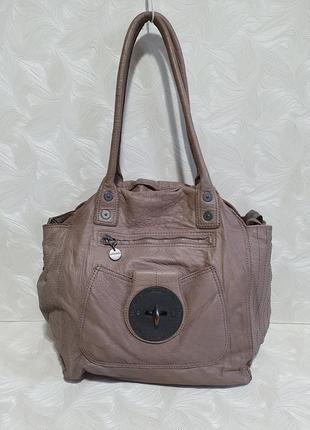 Кофейная кожаная сумка diesel, оригинал