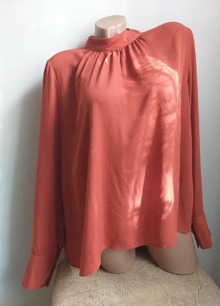 Блуза. туника. рубашка. терракотовая, кирпичная, коралловая.