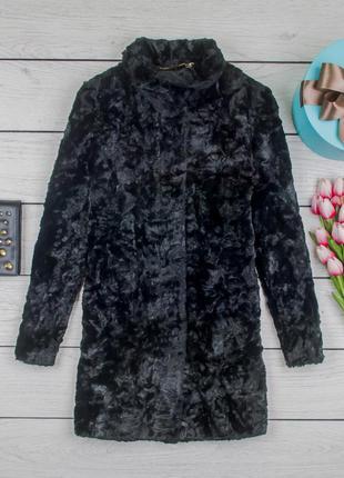 Шуба искусственная теплая черная от country casuals размер uk 8 наш р. 42