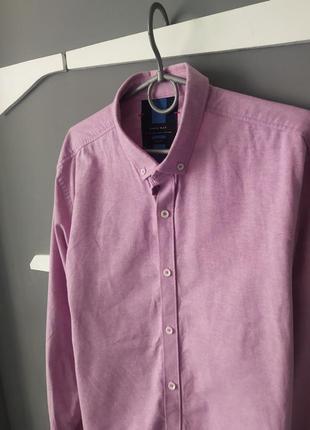 Мужская плотная лавандовая рубашка от zara