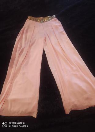 Изумительные лёгкие шифоновые брюки палаццо ( франция).