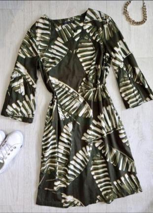 Платье в тропический принт marks spencer