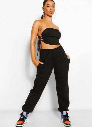 Женские спортивные штаны черные, жіночі спортивні штани чорні