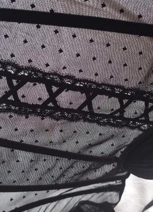 Корсет пояс утяжка горошек в черный h&m8 фото