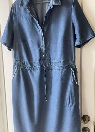 Джинсовое платье basler
