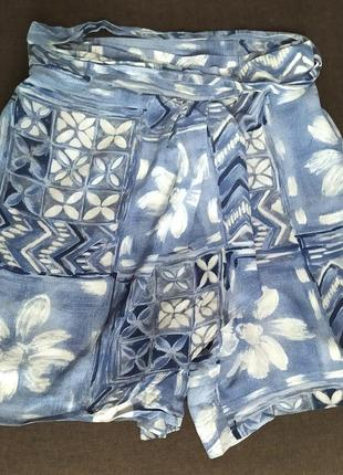 Шелковые шорты юбка италия 100% шелк