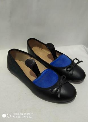 Кожаные балетки туфли roberto santi
