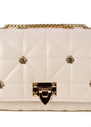 Кремовый женский клатч-сумка, качество огонь