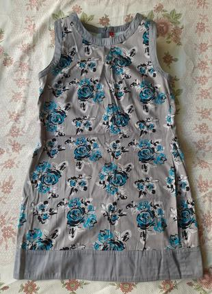 Платье без рукавов цветочный принт/сукня квiтковий прiнт