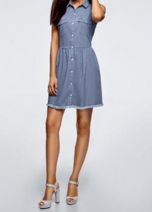 Сукня жіноча джинсова синя oodji