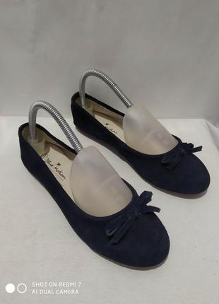Кожаные туфли балетки blue motion