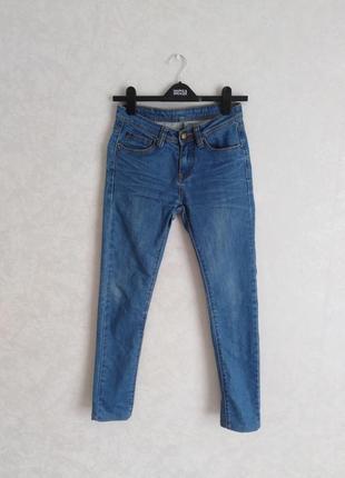 Классные джинсы синие скини, 25 р