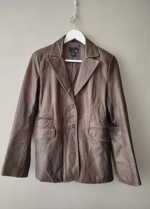 Пиджак из натуральной кожи , кожаный пиджак zara