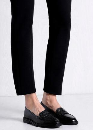 Новые натуральная кожа туфли лоферы 24 см leonardo principi
