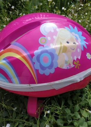 52-56 велосипедный шлем для девочки barbie велошлем шолом для роликів барби