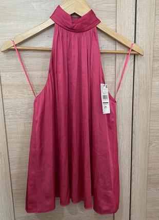 Блузка mango новая ярко розового модного цвета