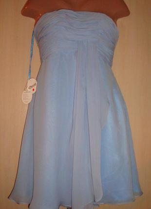 Нарядное, выпускное платье-бюстье шифон на подкладке edressit (англия) uk/10/s