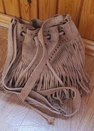 Замшевая сумка bon prix