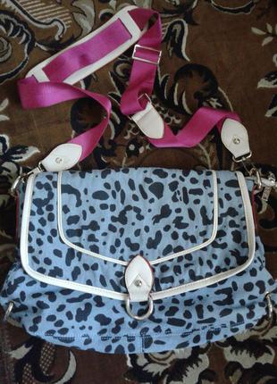 Прикольная молодёжная сумка с длинным ремешком