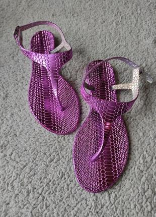 Перламутровые яркие пляжные силиконовые сандалии босоножки