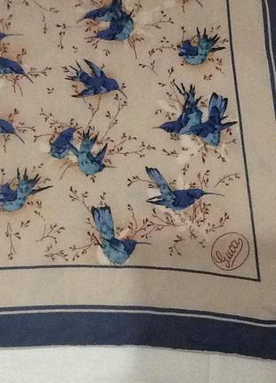 Платок шелковый от gucci5 фото