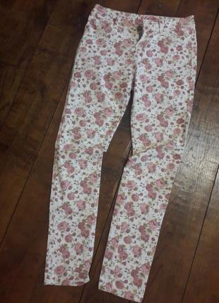 Джинси skinny скіні🔥 квітковий принт, джинсы скини