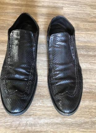 Мужские туфли из кожи питона vero cuoio