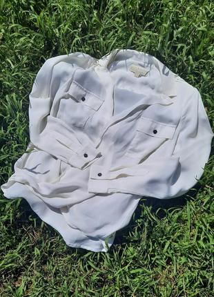 Брендовая блуза michael kors оригинал! 100% шелк