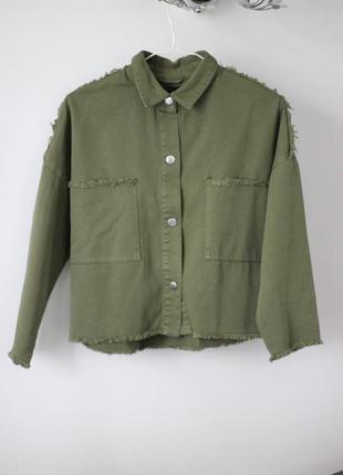 Рубашка в стиле милитари stradivarius